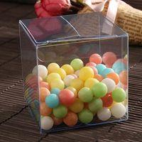 clear pvc boxes - AAA Quality x3x3 CM Transparent Favor Box PVC box PP box Plastic box Clear Candy Box set of