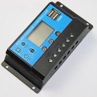 solar panel regulator - 30A V V LCD Display PWM Solar Panel System Solar Regulator Charge Controller Timer Dual USB V Mobile Charger