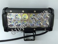 Wholesale 7 quot W LED Working Light Bar Truck Flood Lights Automative Driving Lighting Tractors Ship Lights Super Bright Flood Light Boat Search Lamp