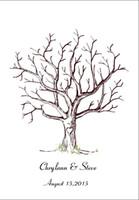 baby shower guest book - Canvas Wedding Fingerprint Tree Guest Book Alternative Love Birds Wedding Decoration Bridal Shower Baby Shower Party Supplies