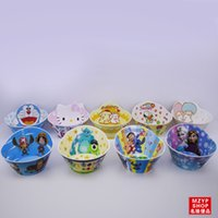 Wholesale Frozen Melamine Resin Bowls Cartoon Style High Quality Creative Tableware One Piece Doraemon Kitty Cute Melamine Dinnerware Hot Sale