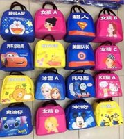 baby lunch box - Hot Sale Baby Mouse Lunch Bag Kids Multi function Meal Package Portable Insulated Lunch Box Children Food Bag Handbag LJJH317