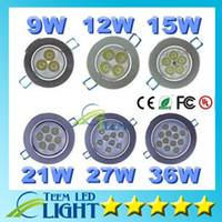 Wholesale Led Ceiling Light W W W W W W Led CREE Resessed downlight spotlight Lamp AC V Led spot Down Lighting Drivers