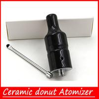 Wholesale Top Ceramic donut Atomizer V2 no coil no wick ceramic heating element vaporizer vapor atomizers Smoking Pen rda atomizers
