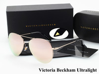 Wholesale New Fashion Victoria Beckham VB Brand Ultralight Pilot Sunglasses Women Color Coating Sun Glasses Oculos De Sol Feminino