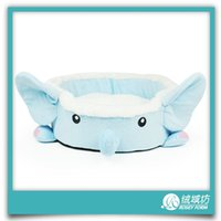 best pet beds - New design cute and beautiful style pet dog nest best quality dog beds for small cats kawaii blue elephant pets supplier