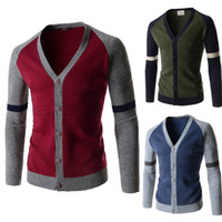 Wholesale mens sweaters autumn winter casual slim fit long sleeve knitted sweater cardigan jacket knitwear men s clothing