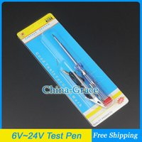 Wholesale DC V V V AUTO Voltage Tester Test Pen For Car Motorcycle Circuit Repair Tools