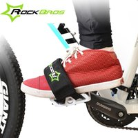 Wholesale RockBros Bicycle Fixed Gear Cycling Pedals Bands Feet Set With Straps Beam Foot Cycling Bike Anti slip Bicycle Pedals