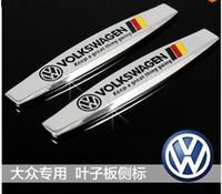 auto vista - Car fender stickers car side badges emblem for VW Volkswagen golf lavida polo tiguan passat vista auto exterior accessories
