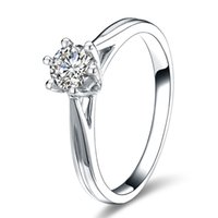 moissanite ring - Certified Ct Real K Solid White Gold Moissanite Wedding Rings For Women VVS H Factory Direct