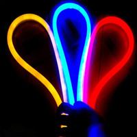 RGB neon lights - 50m led M LED Neon Flex Red color m LED soft neon light V waterproof flexible led strip rope light