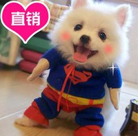 bichon t shirt - Superman Dog Clothes Turned Install Pet Dog Clothes Coats Pet Clothes for Teddy Bichon Puppy Clothes Apparel