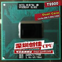 Wholesale Shipping free intel cpu laptop Core Duo t9900 CPU M Cache GHz Dual Core Laptop processor for GM45 PM45