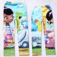 Wholesale girls cartoon Doc Mcstuffins pants kids Autumn printed legging children s cute leggings in stock