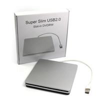 Wholesale Factory Price Super Slim USB Slot In DVD CD Drive Burner CD RW DVD ROM DVD RW External Optical Drive Silver goodbiz