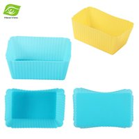 cupcake soap - 10pcs Square Silicone Muffin Cups Cake Tools Silicone Cake Mold Cupcake Liners Soap Mold dandys