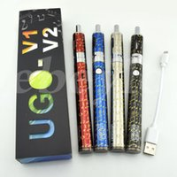 Cheap Newest UGO-T2 V2 E Cig Kit 650mah Variable Wattage Battery with Airflow Control Vaporizer vape pens Electronic Cigarettes