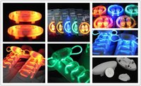 Wholesale Hot selling pair LED Shoelaces Lighting Flash Light Up Sports Skating Shoe Laces Shoestrings