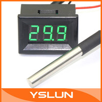 air temp sensor - 5 DS18b20 Green LED Digital Air Temp Sensors Temperature Gauge Celsius Degrees Panel Water Thermometer