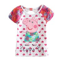 Boy t-shirt printing - Children Girls Pig T Shirt Children Cotton Clothing Nova Kids Girl T Shirt Printed Casual Baby Girl Shirts K4673