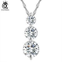 Wholesale ORSA Pieces Clear AAA Grade Cubic Zirconia Pendant Necklace Best Jewelry GIft for Women ON99