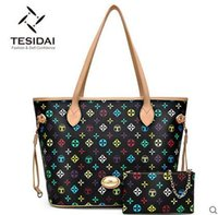 Wholesale Brand New Fashion Vintage Tassel Women Handbag High Quality Canvas Tote Shoulder Bag big bag TESIDAI