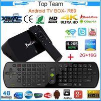 Wholesale Set Top Box Android TV Box RK3288 Quad Core Smart TV Box GB GB BT Dual Wifi XBMC TV Media Player with RC11 keyboard