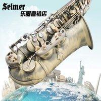 Wholesale French Selmer Salma E flat alto saxophone instruments green bronze brushed professional playing
