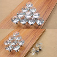 Wholesale High clear K9 zinc alloy base brilliant diamond crystal kicthen cabinet knobs mm diameter best prices