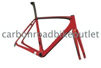 Wholesale 2015 K CarbonT1000 Torayca Asymmetric Carbon sl5Road Bike Frame Torayca Carbon Fiber Road Bicycle Frames Frameset red white