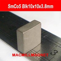 Wholesale 20PCS High Working Temperature Super Strong SmCo Permanent Magnetic Block Blk10x10x3 mm Samarium Cobalt Rare Earth Magnet