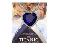 heart of the ocean - Titanic the heart of the ocean k white plated gold Czech crystal