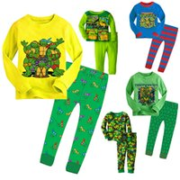 Wholesale Mutant Ninja turtle knit kids sleepwear home clothes boy s suits