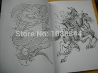 Cheap Wholesale-Wholesale JINXUAN A3 Tattoo Flash China Book Sketch Art KOI Buddhism Dragon Beast sketch book Outline Free shipping