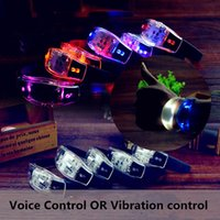 Cheap Black Silicone LED Flowing Wristband Voice Control Glowing Arm Band Vibration Control Bracelet LED Luminous Hand Ring Party Disco Christmas