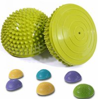 balls exercise - Yoga Fitness Ball Massage Half Ball Stability Exercise Yoga Gym Fitness Pilates Ball Weight Ball kg Anti Burst