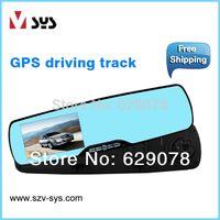 Cheap car dvr Car Rear View Mirror with Dashcam Parking Camera 4.3 Inch Screen GPS Speed Radar Detector mirror monitor rear view