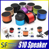 Wholesale S10 Bluetooth Speaker Outdoor Universal Handfree Mic Stereo Portable Speakers TF Card Call function DHL No Logo In Retail Box