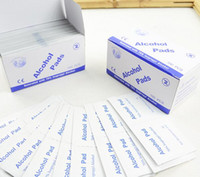 Wholesale 100pcs Antiphlogosis Isopropyl Alcohol Swab Pads Piece Wipe Antiseptic Skin Cleaning Care