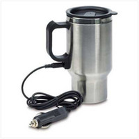Wholesale 12V Car Heated Warm Stainless Steel Travel Electric Mug Kettle Jug Cup auto