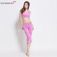 art capri - 2016 New Women s Low Waist Quick Dry Gradient Yoga Capri Leggings with Sport Anti vibration Bra Set Sportswear Aerobics clothing C011