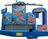 Wholesale Commercial inflatable bounce house with slide for kids