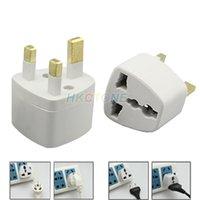 Wholesale Wholesales US EU to UK AC Power Plug Travel Converter Adapte White D