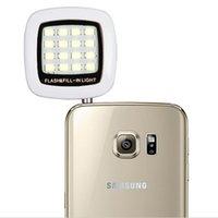 Wholesale Pocket Spotlight Smartphones Flash Photography LED Lighting fill light lamp for iPhone s for iPad Samsung