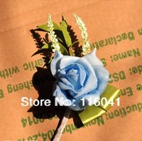 Wholesale pc Real Touch Rose Flower Prom party wedding flower Wedding Bestman corsage