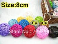 Wedding Frete grátis bola decorativa rattan, Natal Início ornamento diâmetro 8 centímetros 20pcs / lot cor Mix