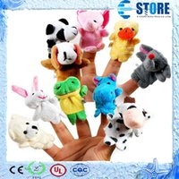 baby family gifts - Baby Plush Toys Cartoon Happy Family Fun Animal Finger Hand Puppet Kids learning education Toys Gifts