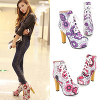 cowboy boots - The latest Trends In Women s Boots Cheap Fashion Explosion Models Dressed Long Boots Printing Lace Up Belts in Comfortable Style X