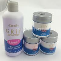 Wholesale Ibd powder uv gel powder IBD GRIP MONOMER LIQUID set high quality nail gel powder nail tools